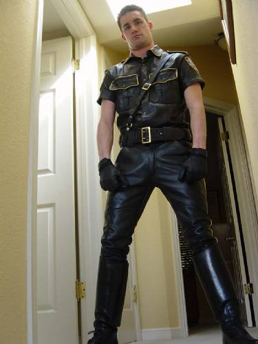 Gay Leather Cops - Sex Games-4028