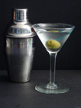 Martini Mixed Drink Cocktail