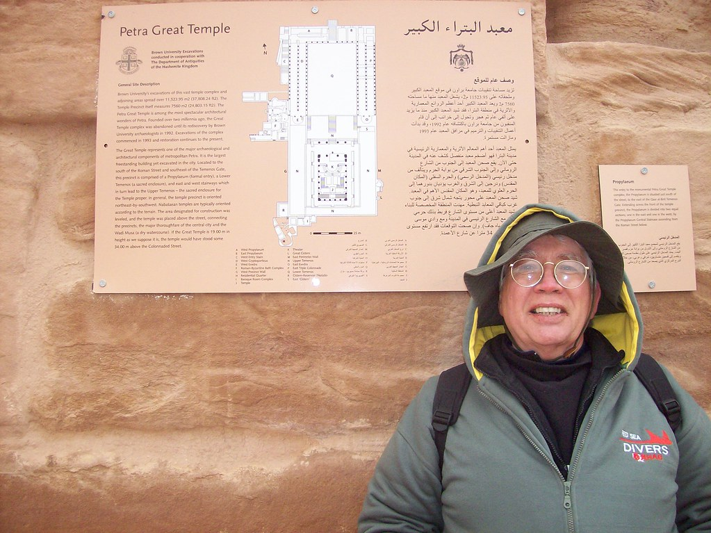 Me at Petra Great Temple