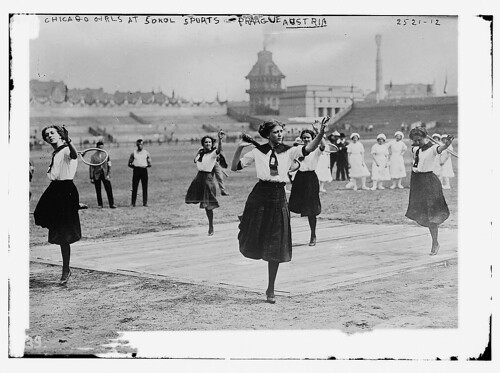 Chicago girls at Sokol Sports, Prague, Austria (LOC)