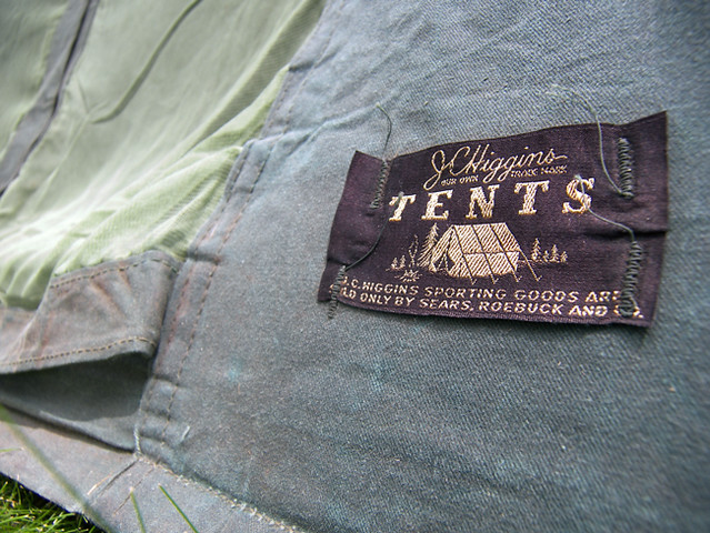 My Vintage Umbrella Tent #1 & tent - a gallery on Flickr