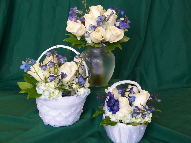 Flower Girl Baskets Bouquets : Bridesmaid bouquet and flower girl baskets flickr