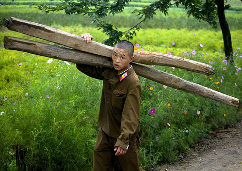 Soldier at work North Korea
