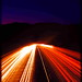 The Burning Lights - Night-time Freeway.  by J.K Morley | Photography