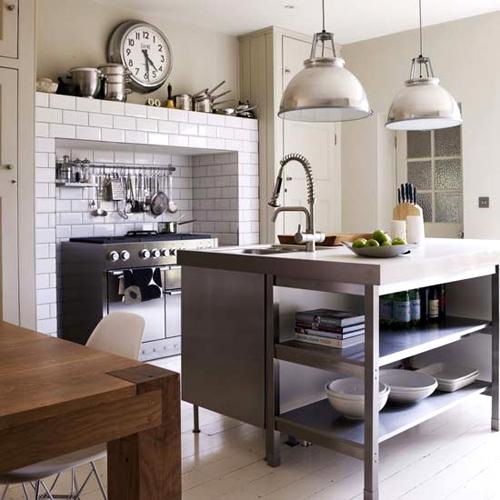 industrial lighting kitchen flickr photo