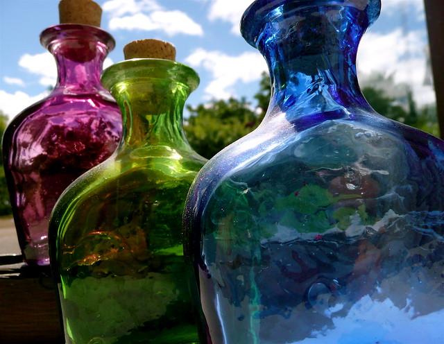Coloured Glass Vases Uk