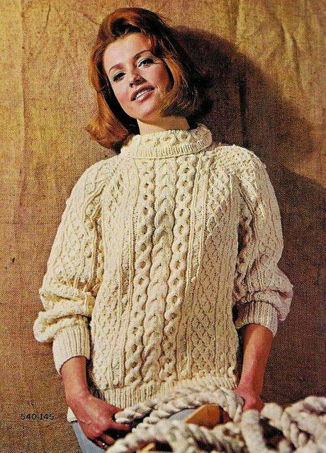 Vintage knitting patterns: 1960s Irish fisherman sweaters ...