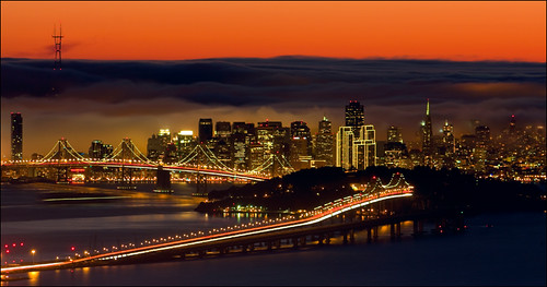 ocean sanfrancisco city sunset sun skyline night lights bay berkeley downtown baybridge tildenpark
