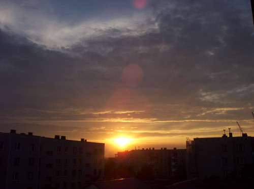 sunset sky sun clouds nuvole cielo sole słońce zachód słońca chmury niebo