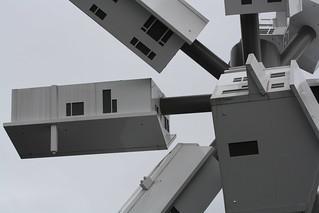 Image of Clock Tower. sculpture toronto northyork douglascoupland shopsatdonmills
