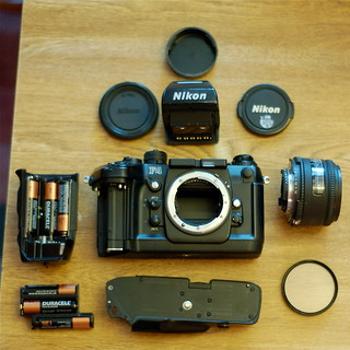 Derek's Nikon F4s - fully disassembled