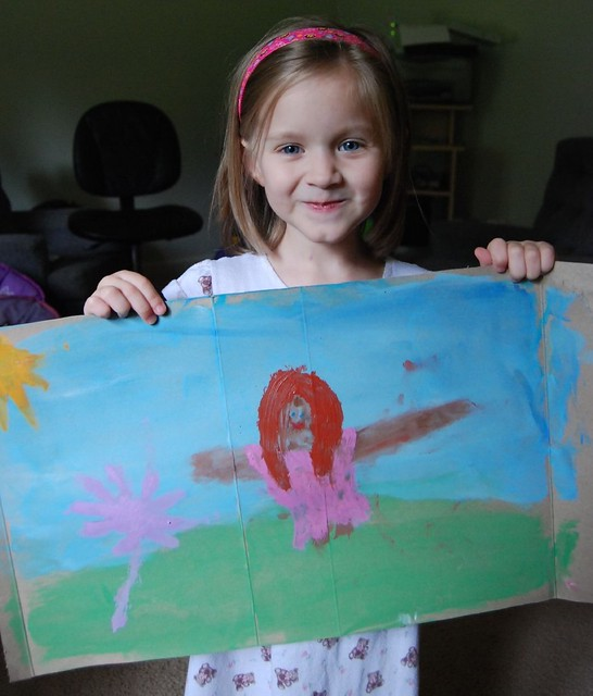 Emma's painting - Girl with a flower