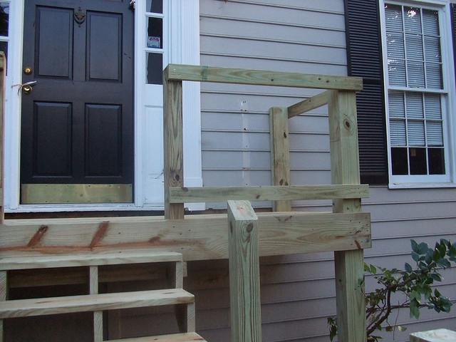Framework right side of the front deck framework by for Garden decking framework