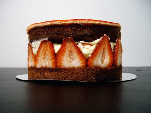 Strawberry Bagatelle Cake