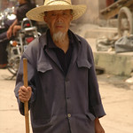 Old Man with Hat - Guizhou Province, China