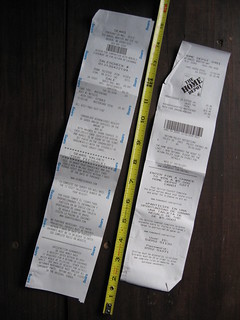 Too-Long Receipts