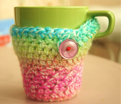 Recipe for a crocheted cozy mug