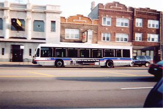 Eastbound CTA Nova transit bus on West North Avenue. Chicago Illinois. April 2006. by Eddie from Chicago