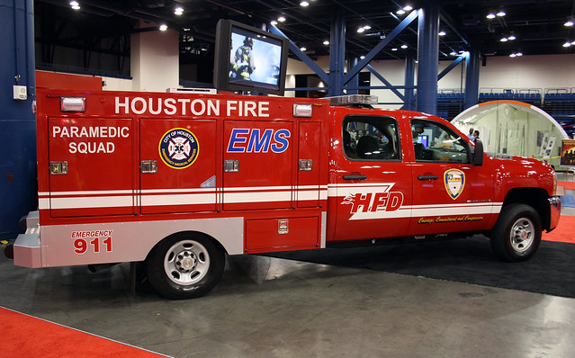 Houston Texas Fire Department Paramedic Squad Chevy
