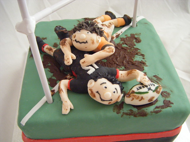 Cake Decorating Ideas Rugby : Rugby Cake Flickr - Photo Sharing!