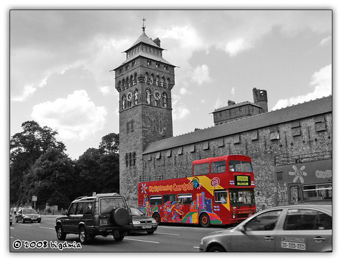 Cardiff Castle Pleasantville Effect