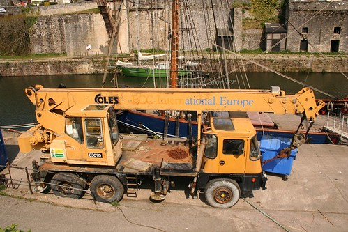 Charlestown Harbour - old crane by Stocker Images
