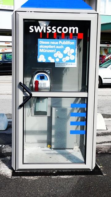 Swiss telephone cabine