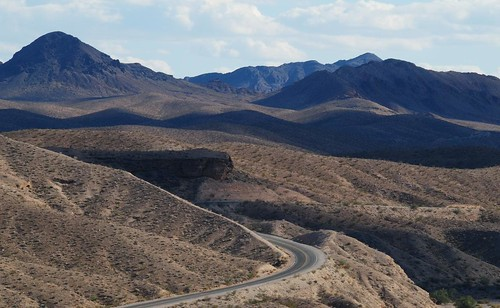 Route 167 heading for Las Vegas, Nevada