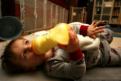 having a bottle of milk before bed    MG 1620