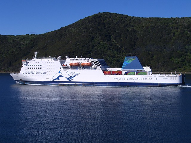 Queen Charlotte Sound - Interislander ferry Kaitaki