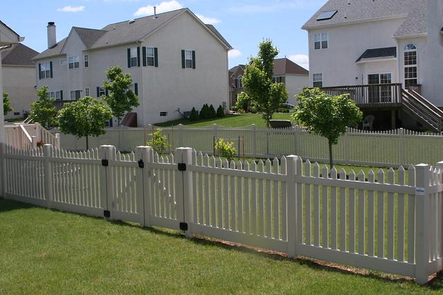 Cape Cod Vinyl Fence Almond Jpg Flickr Photo Sharing
