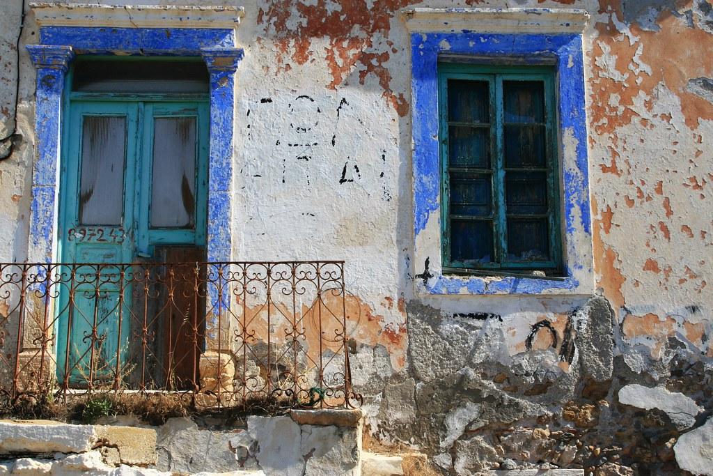 Decayed facade, Leros island
