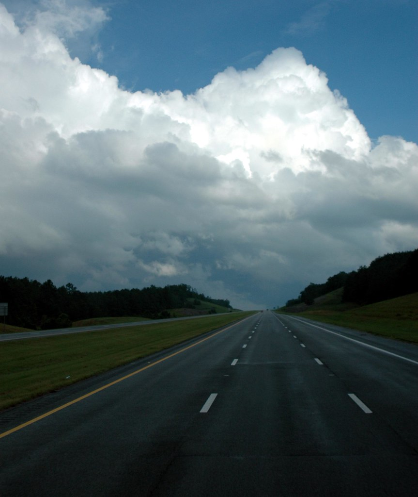 Guin (AL) United States  city images : road moon storm weather clouds pavement highways routes interstate ...