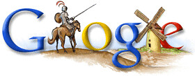 Logo Google cervantes Don quijote