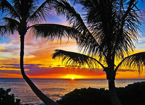 Hawaiian sunset at Ko'Olina