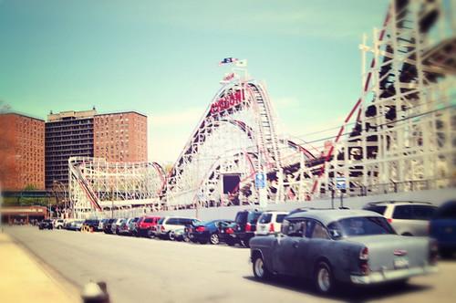 summer roller coaster