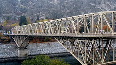 girder bridge, vehicle, transport, river, truss bridge, cantilever bridge, waterway, bridge,