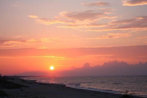red sky usa art beach yellow clouds america sunrise photography photo sand quiet clayton images calm shore northamerica harris inspiring peacful harrisclayton