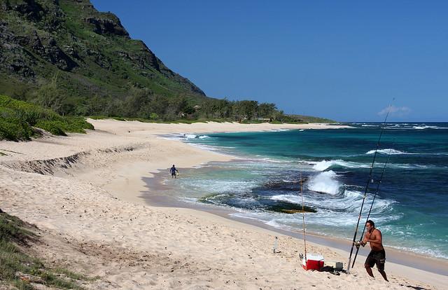 Fishermen At Mokuleia Beach