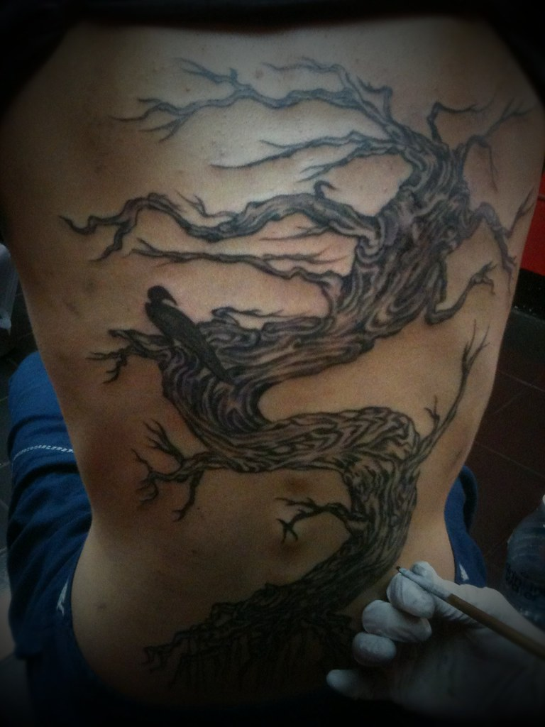 Dead tree by bamboo tattoo at dejavu tattoo studio 20 05 for Death tree tattoo