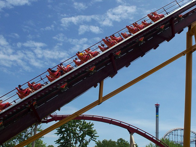 Kings Island - Diamondback Lift Hill