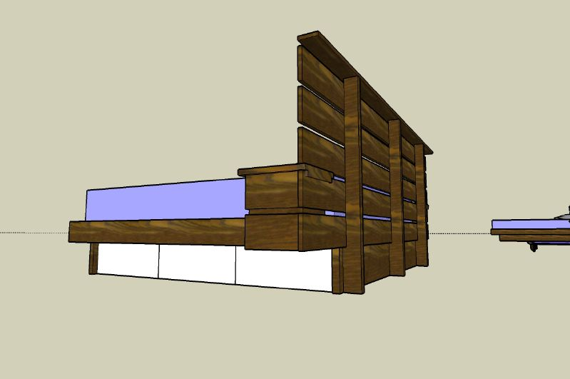 Building a platform bed frame with drawers woodworking plan quotes - How to make a platform bed with drawers ...