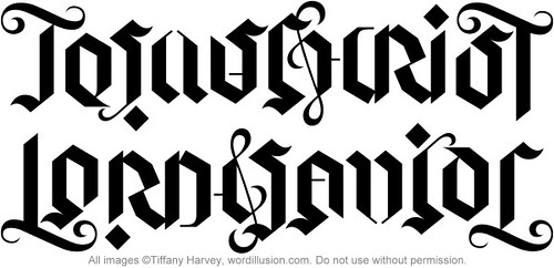"""Jesus Christ"" / ""Lord & Savior"" Ambigram, v.1"