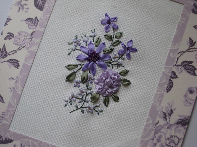 Silk embroidery ribbon designs