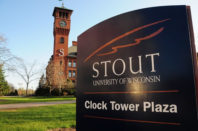 Clock Tower Plaza, University of Wisconsin-Stout, Menomonie | Flickr - Photo Sharing!