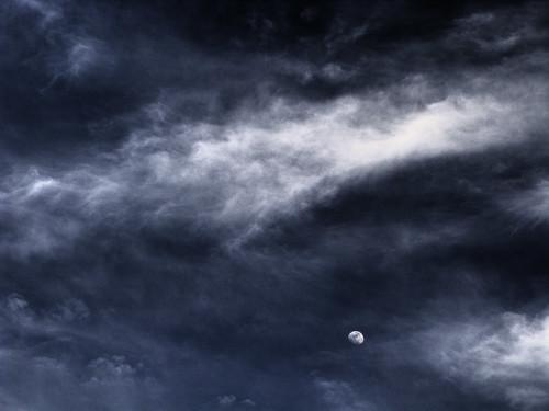 sky cloud moon texas tx photomatix