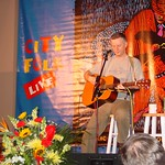 Billy Bragg performs at a WFUV Marquee event