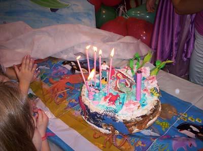 Torta de La Sirenita - Juegos internet gratis para chicas