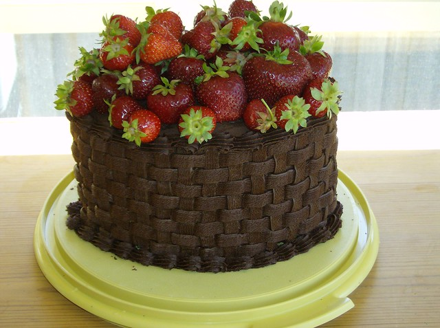 Chocolate strawberry basket cake | Flickr - Photo Sharing!