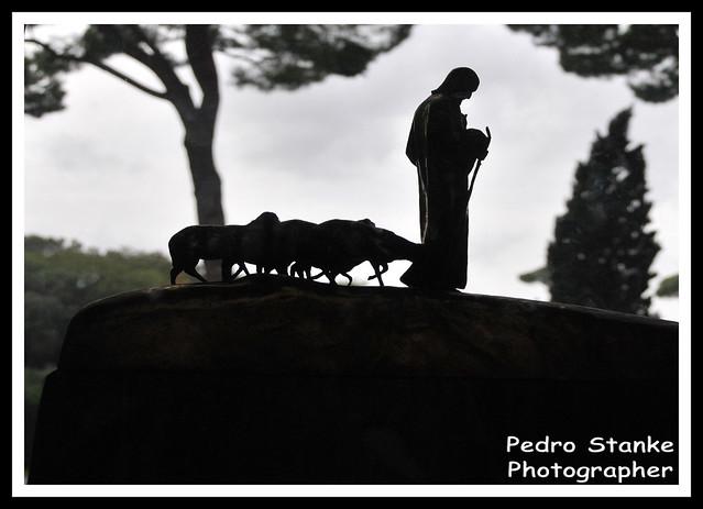 Vatican Museum, shepherd sculpture - Rome, Italy